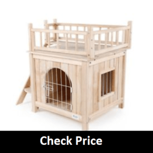 Petsfit Indoor House with Wire Door for Small Dog
